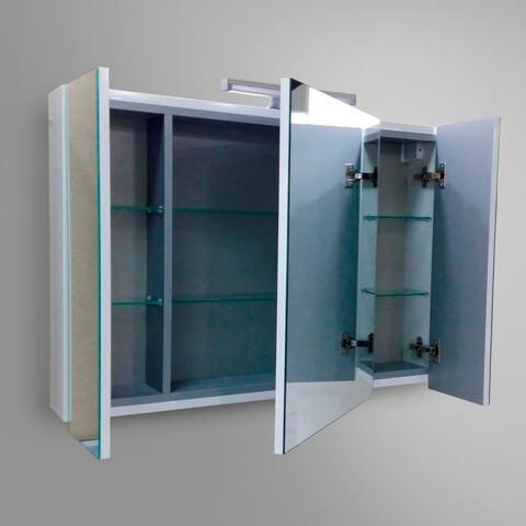 Зеркальный шкафчик для ванной комнаты, купить шкаф с зеркалом Марсан Терез-1 в интернет-магазине