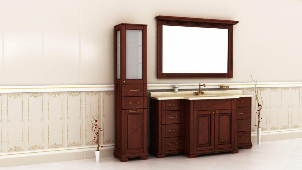 тумбы в ванную Ваші Меблі серия Мрамор