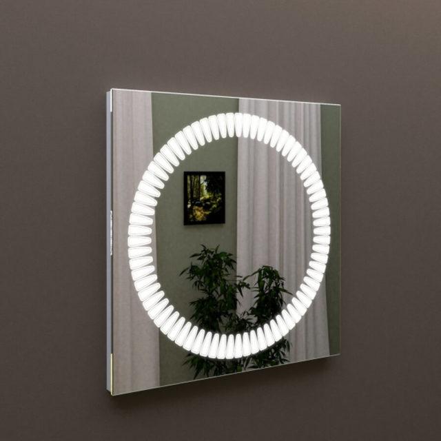 Зеркало с подсветкой в ванную комнату с сенсорным выключателем Марсан