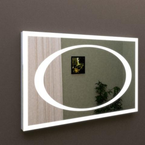 Зеркало с подсветкой для ванной комнаты с сенсорным выключателем Марсан 10