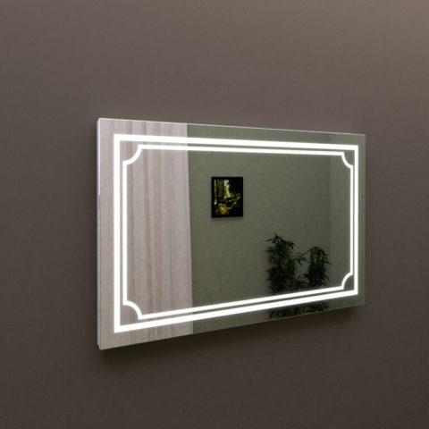 зеркало с подсветкой в ванную комнату 100 см