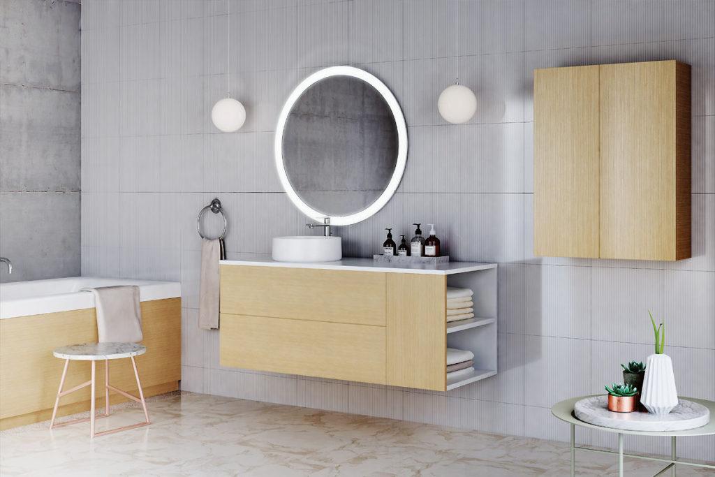 Стильный комплект мебели в ванную комнату Balteco, гарнитур Alto, купить в интернет-магазине