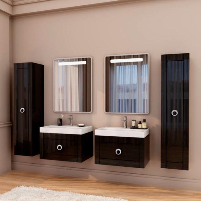 Комплект в ванную комнату на два умывальника Шарлотта Марсан