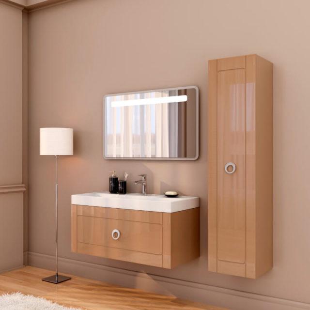 Изысканная тумба с зеркалом в ванную Марсан