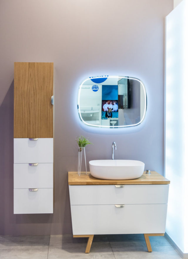 Мебель для ванной комнаты, модерн комплект Trapez Balteco, купить