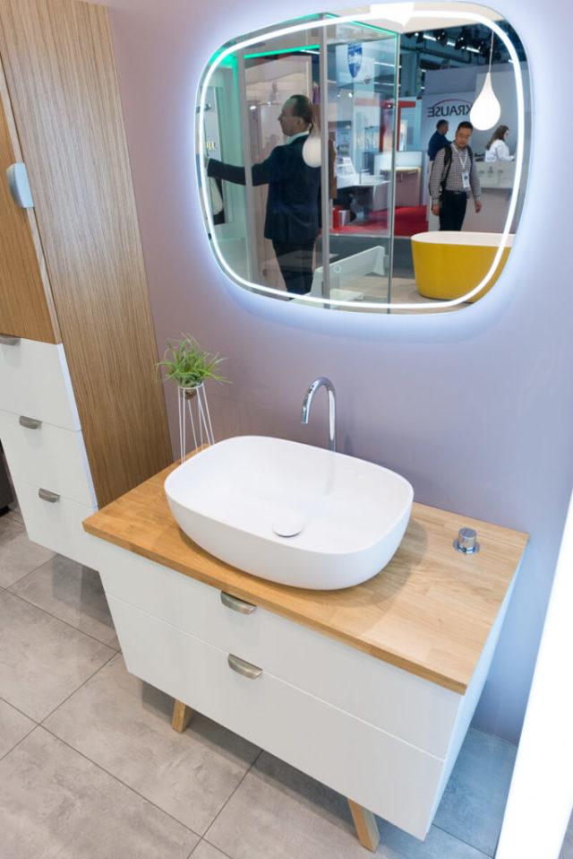 Эстонский комплект мебели в ванную Trapez Балтэко