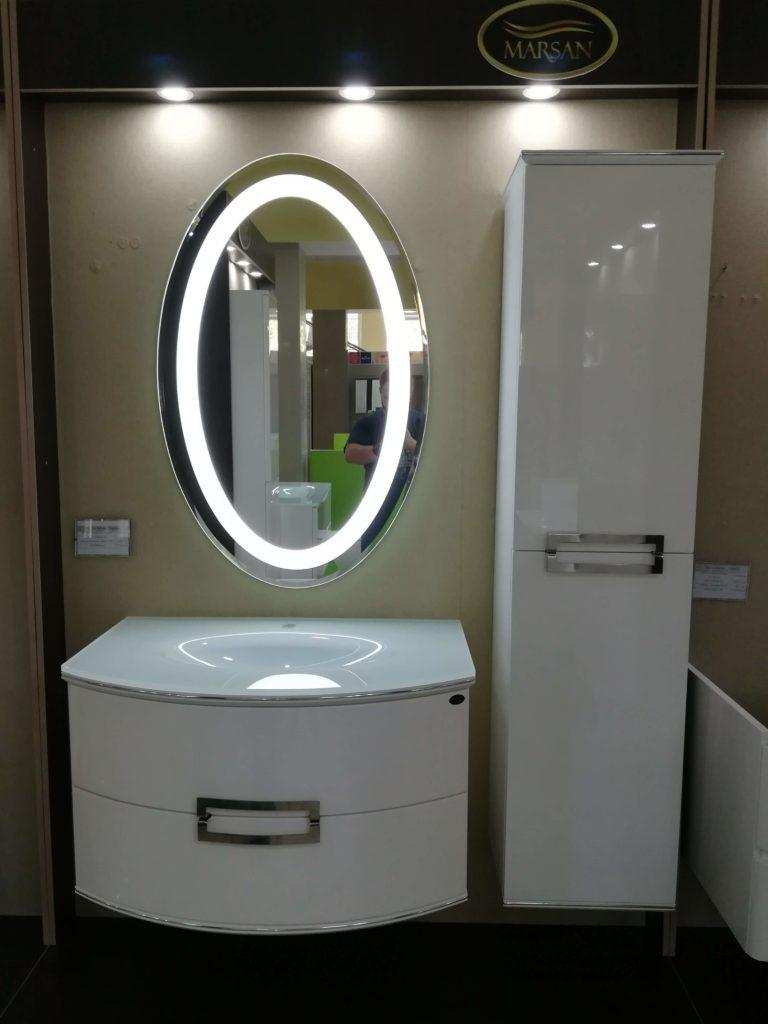Белый глянцевый комплект мебели Сабрина Марсан