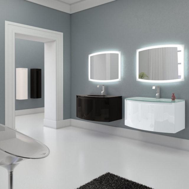 Комплект мебели для ванной комнаты в стиле минимализм, гарнитур MADELEINE (Маделин) Marsan, купить в интернет-магазине