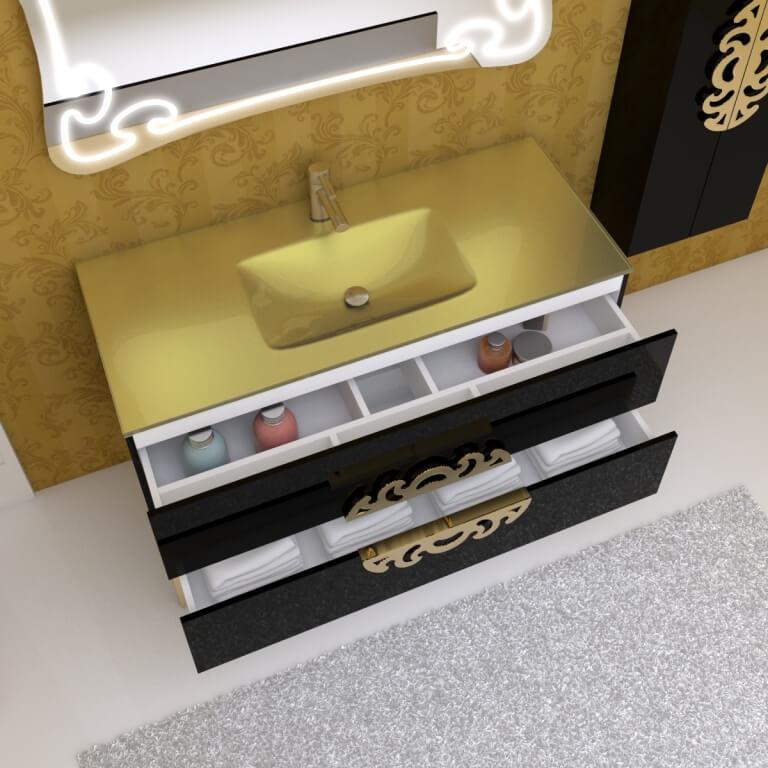 Гарнитур в ванную комнату Мальвина Марсан