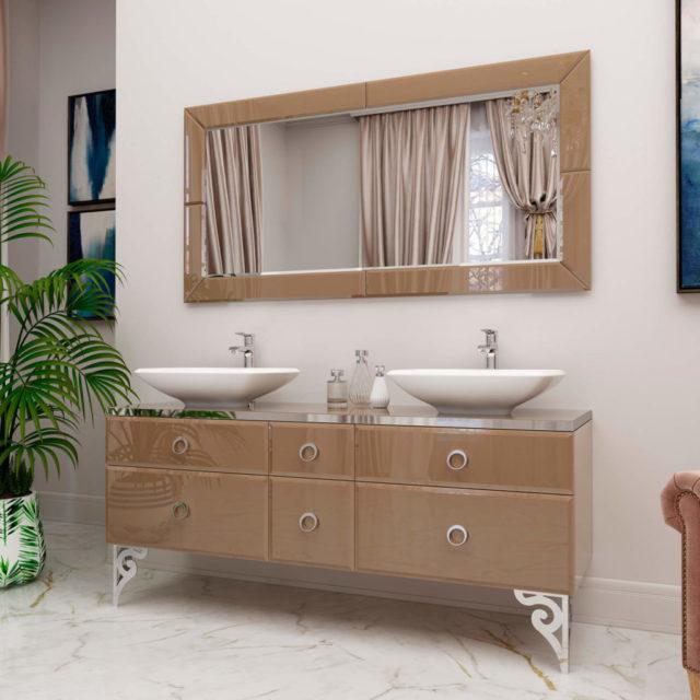 Комплект в ванную комнату с раковиной и мраморной столешницей «MICHELE» Marsan, купить в интернет-магазине