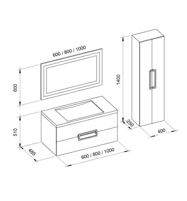 Мебель в ванную комнату MONIQUE (Моник) Marsan (Марсан)