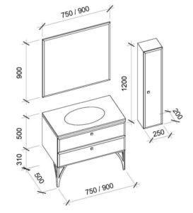 Мебель для ванной комнаты SHANTALIE (Шанталь) Marsan (Марсан)