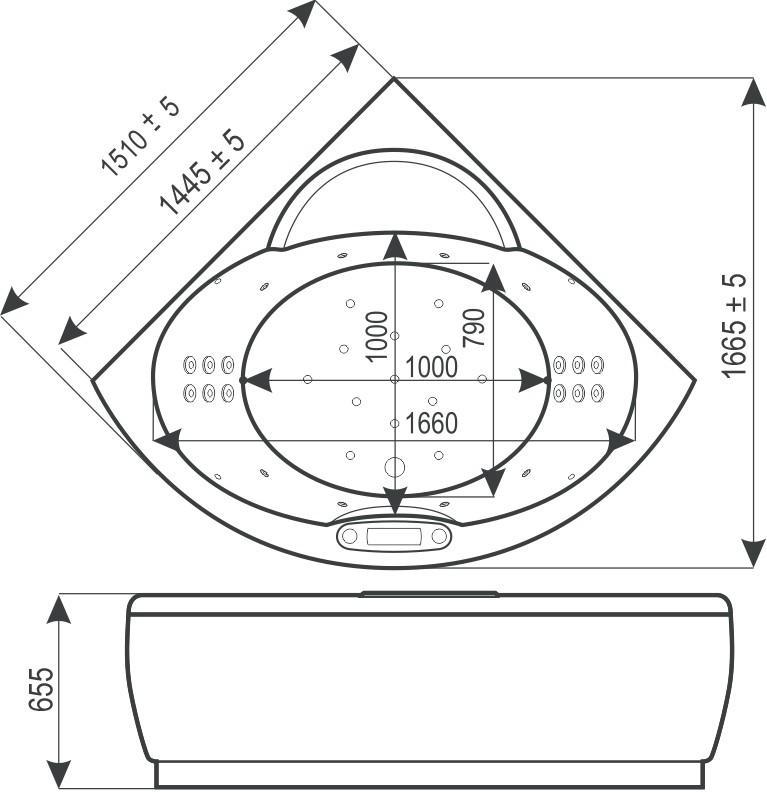 Чертежи и схематическое изображение ванны ВГТ (WGT) Ми Корасон