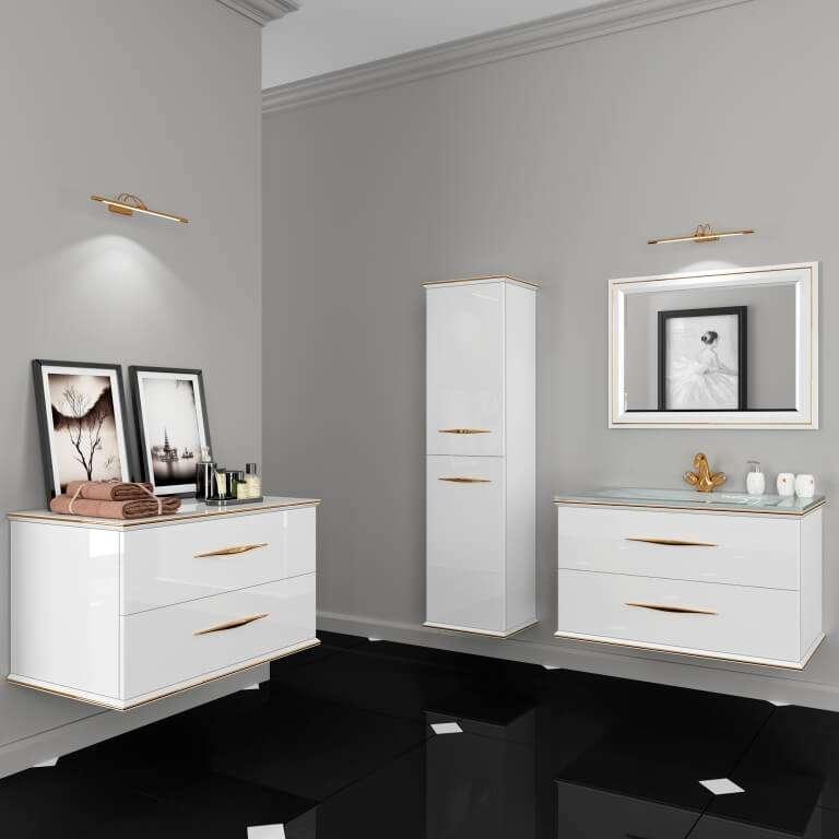 Купить гарнитурмебели для ванной в стиле арт-деко, комплект в ванную Cassandre Марсан в интернет-магазине