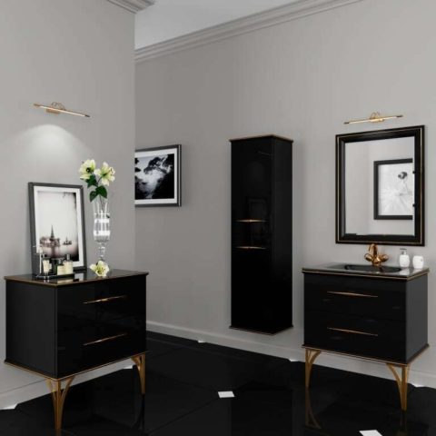Комплект мебели для ванной в стиле арт деко, Гарнитур Cassandre в Киеве