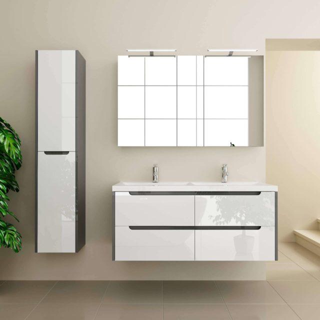 Стильный гарнитур в ванную комнату, комплект мебели «LOUISE» (Луиза) Марсан, купить