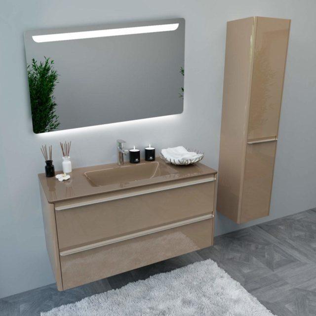 Купить стильный комплект мебели в ванную BRIGITTE-2 Марсан в интернет-магазине