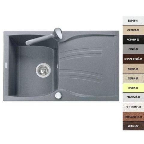 Кухонная мойка Argo ALBERO 770х500х200