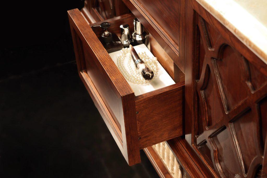 роскошный гарнитур в ванную комнату GODI (Годи, Годі) US-45А (ЮС-45А) в цвете орех