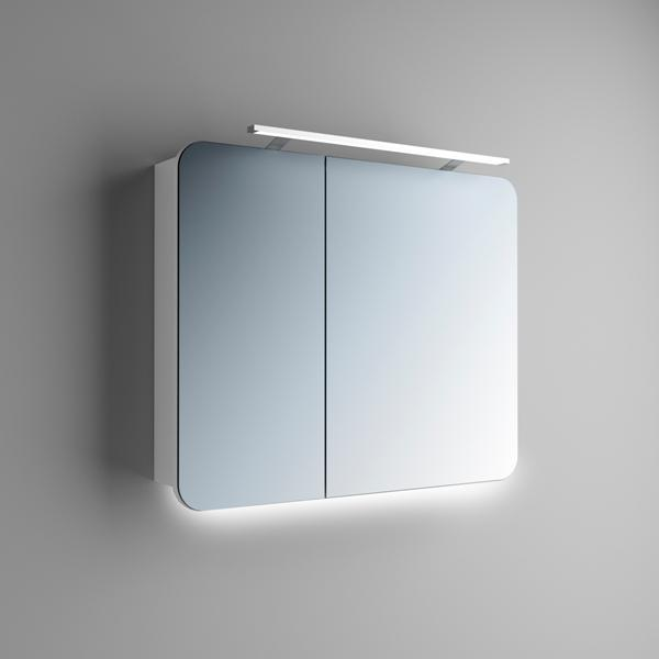 Зеркальный Шкаф Подвесной в Ванную Адель 2 Двустворчатый Rodecs Производитель Marsan