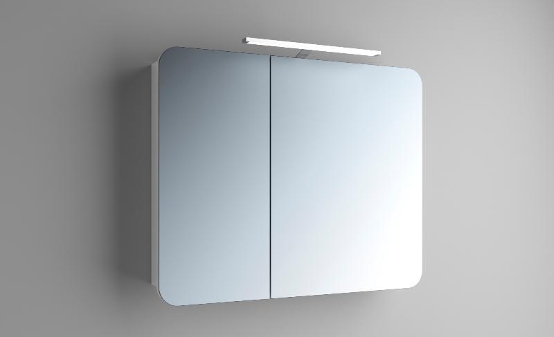 Зеркальный шкаф подвесной в ванную Адель 2 производителя Марсан на Rodecs.com.ua